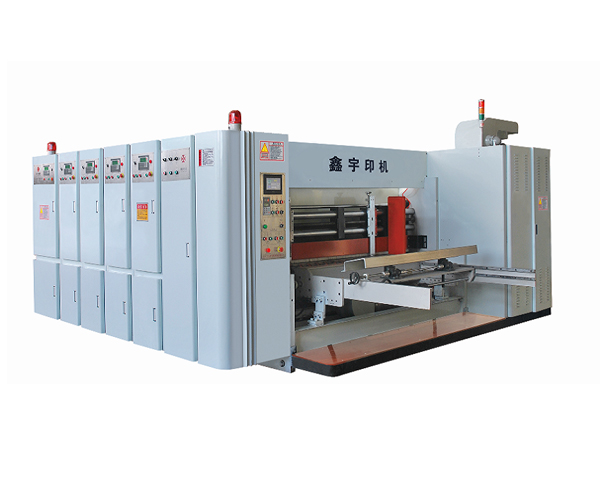 Economical speed flexo printing die cutting slotting machine